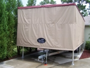 Touchless Boat Cover Free Standing Frame